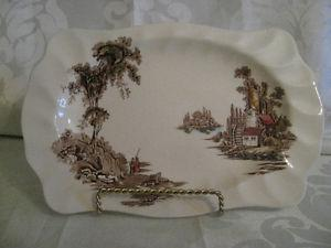 Vintage Johnson Brothers The Old Mill Bread Tray