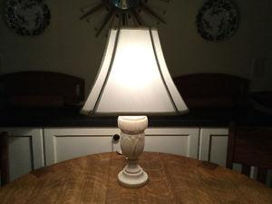 Vintage old Alabaster Table Lamp with new shade