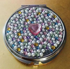 $3 2 GO 2DAY! BRAND NEW • Heart/Pearl/Gem DOUBLE MIRRORED
