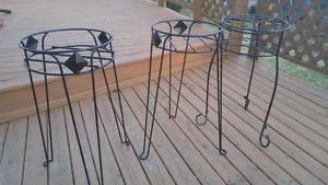 3 Metal Plant Stands for Sale