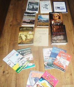 9 books & 7 recipe books Lot of Nfld books