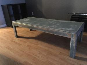 Antiqued wooden coffee table