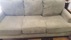 Ashley Steel Sofa and Loveseat