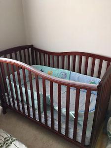 Baby crib and mattress