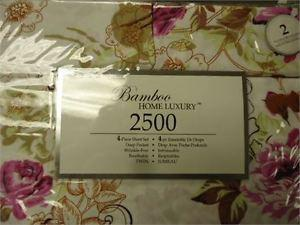 Bamboo Home Luxury Sheet set- Twin brand new 4 pconly 15