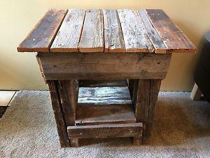 Barn Wood Side Table -OBO