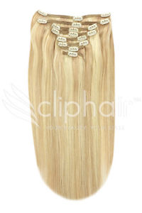 CLIPHAIR EXTENSIONS - 100% HUMAN HAIR - 22 INCHES