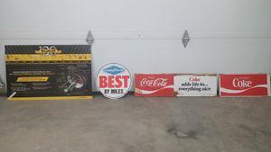 Coca Cola, Good Year & Monroe Sign