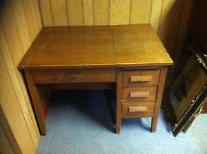 Desk type writer Antique Unique Real Wood BibleHill 902
