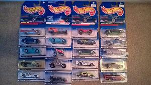 HOT WHEELS 20 CARS IN NEW PACKAGES (VINTAGE  or so)