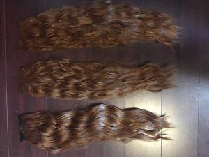 "Hair Extensions 15"" Wavy Brown"