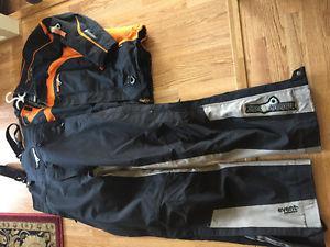 Motor fist snowmobile jacket / bib pants