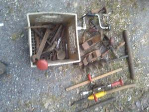 Old hand tools. Hand drills, planes, ect...