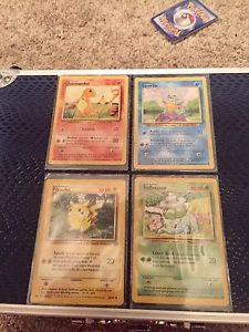 Original First 4 Pokemon Cards