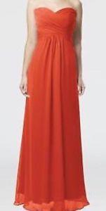 Persimmon Chiffon Bridesmaid Dress