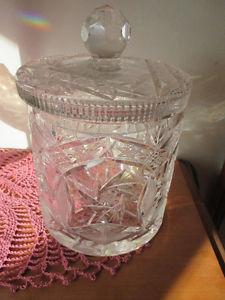 Pinwheel Crystal Biscuit Barrel