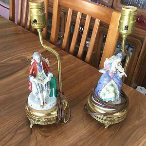 Porcelain Figurine table lamps