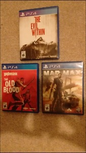 Ps4 games all new open codes not used $20 each tried once