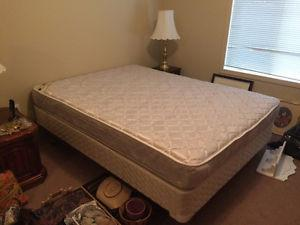 Queen Bed with Mattress and Box Spring in Excellent Shape