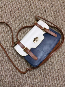 Small handbag/purse from South Korea - Navy/White/Brown