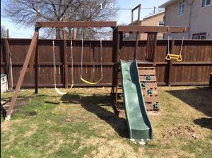 Swing set and play structure SOLID WOOD