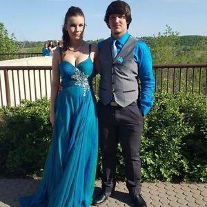 Teal Graduation Dress