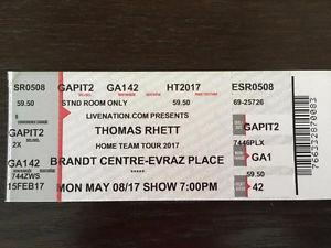 Thomas Rhett Single Floor GA Ticket