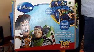 Toy Story Sheet Set- Full size 4 pc brand new never used