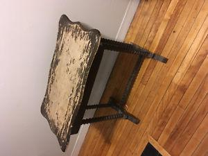ANTIQUE TABLE WITH HIDDEN DRAWER $50