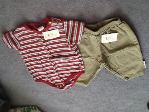 Baby boys summer clothes, size 6 months