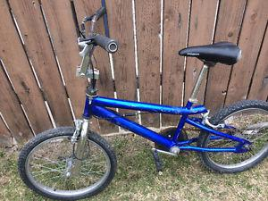 Blue bmx bike, (20 Inch tires)