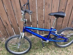 Blue bmx bike, (20 Inch tires)