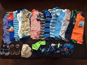 Boys 6-12 month summer lot