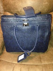 "Cabrelli & Co. Pilar Croco 15"" Rolling Laptop Bag, Dark Blue"
