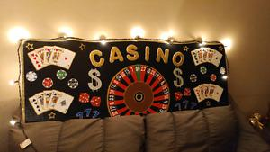 (Casino Sign) Handmade