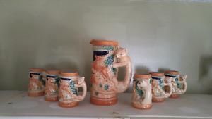 Ceramic 7 piece juice set