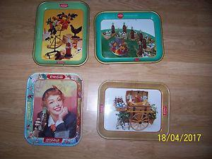 Coca Cola Trays & Cans From The 50's