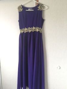 Elegant purple and gold dress size small - New Never Worn