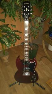 Epiphone SG G-400 Electric Guitar & Fender Amp $375