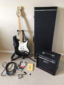 Fender Stratocaster, Peavey Rage Amp, Hard Case
