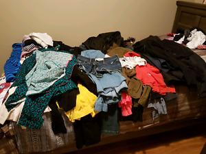 Garbage bag of women's clothes for sale!