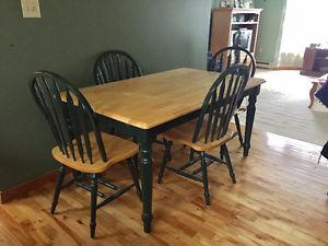 Handcrafted Dining Room Table and China Cabinet
