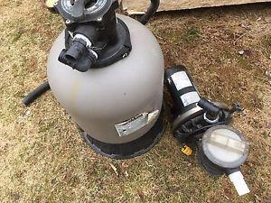 Hayward swimming pool filter and pump