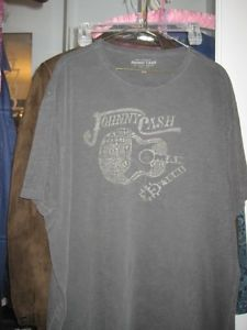 Johnny Cash Man in Black Vintage Wash T-Shirt by Lucky Brand