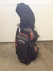 Left Handed 13 piece set of golf clubs with Calaway bag.