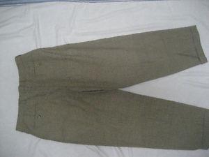 New INCOTEX Mabitex Houndstooth 100% Wool Mens Dress Pants