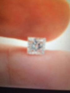 One Carat Princess cut VVS diamond
