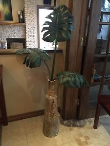 Palm Leaf in Rustic Tin Vase