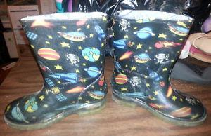 Size 8 Rain Boots With Lights