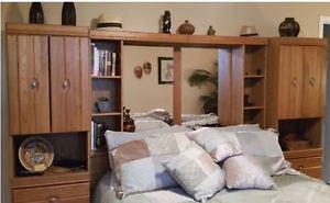 Solid Oak Bed Room Furniture Suite - Like New